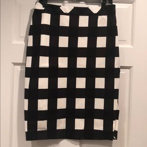 NWT Banana Republic Check Pencil Skirt